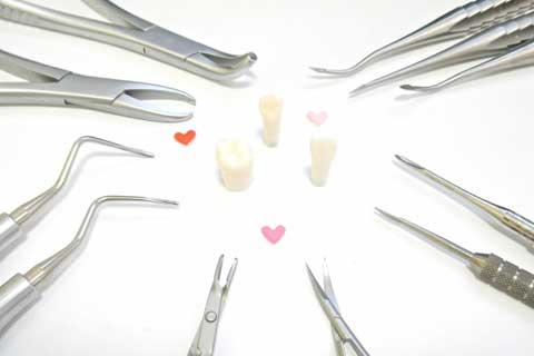 治療時の工夫・抜歯器具