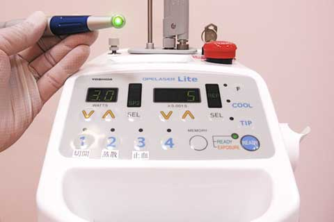 治療の工夫・CO2レーザー